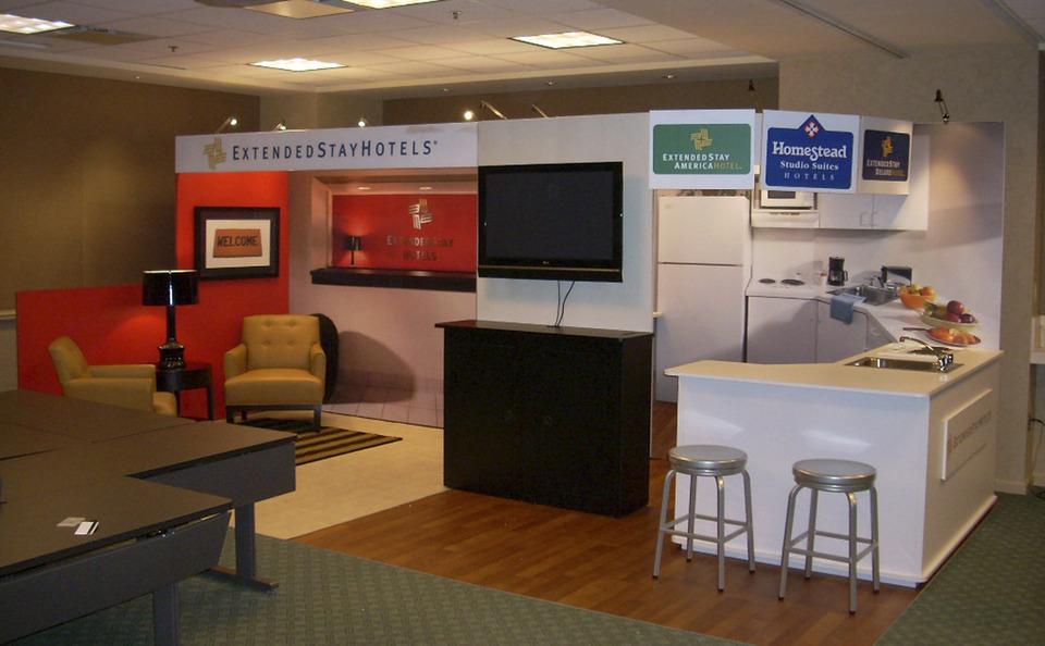 Extended Stay hotel scene environment custom modular