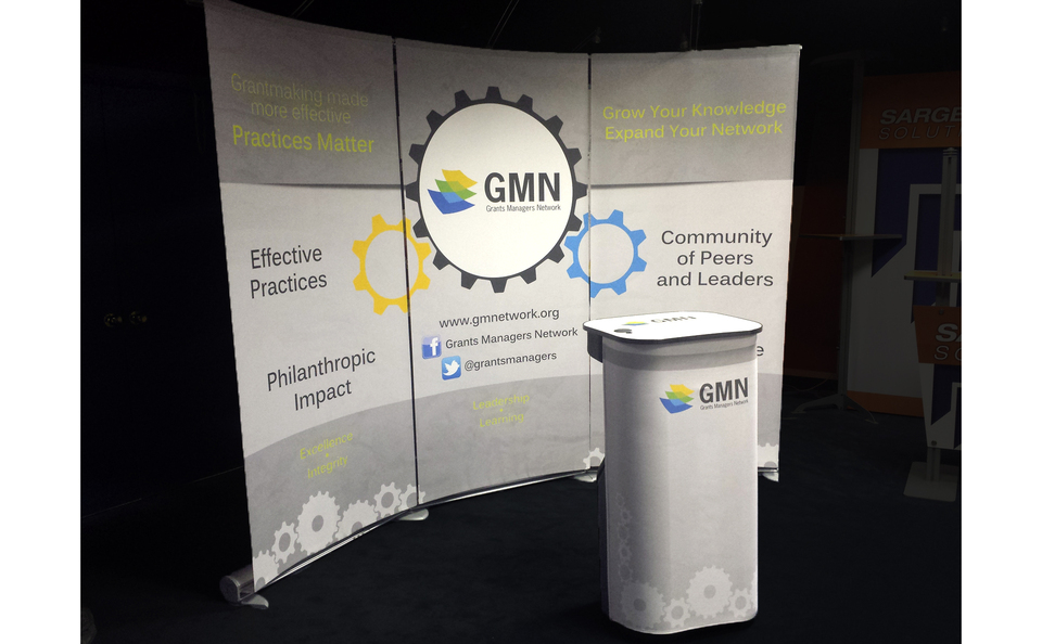 GMN branding colors eye catching simple compact