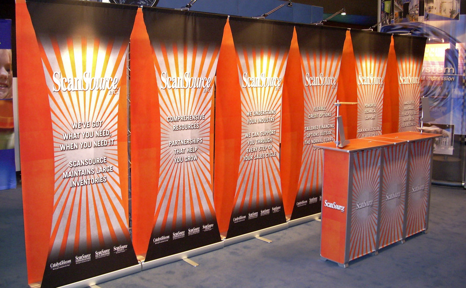 ScanSource backwall graphics lighting design