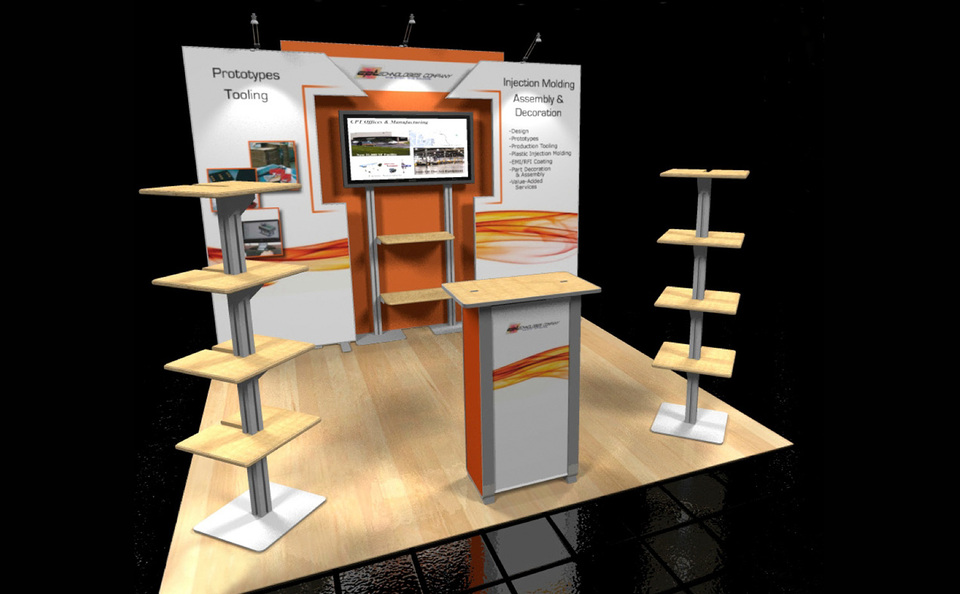 10x10 Inline Exhibit Designs