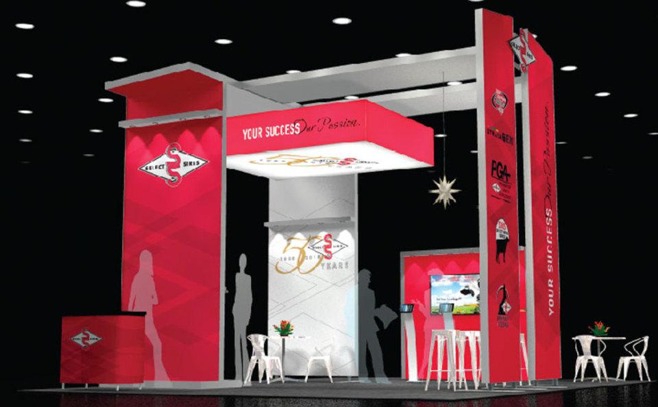 Select Sires 20x30 Envoy Exhibit Design