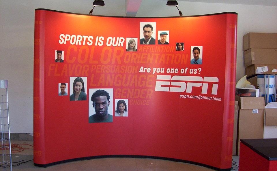 Skyline Northeast ESPN trade show backwall
