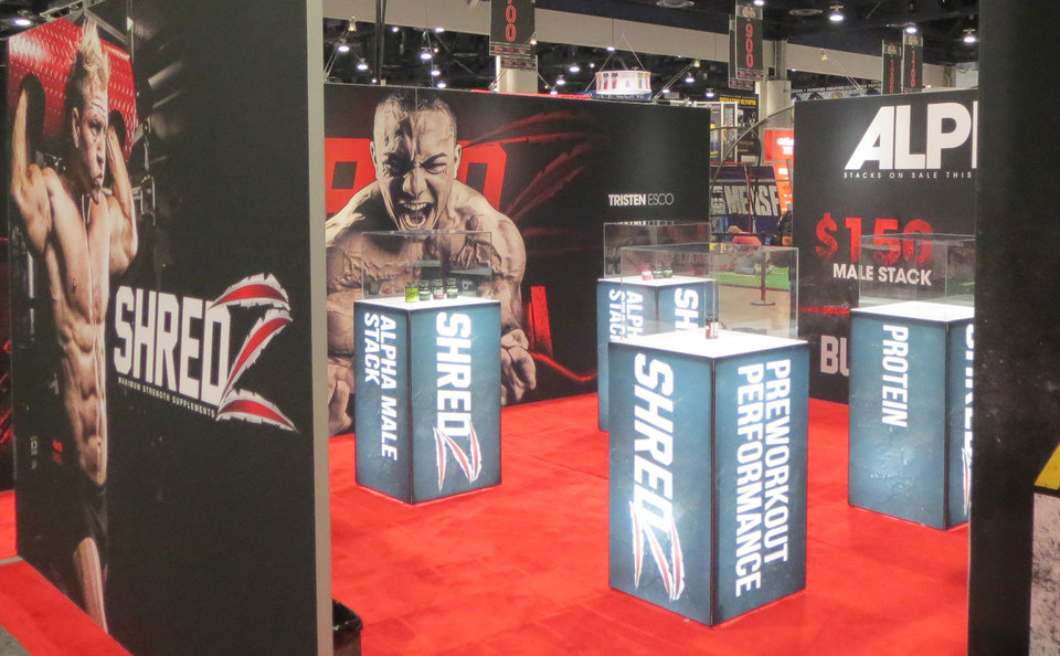 Skyline Exhibits New Jersey Shredz trade show display