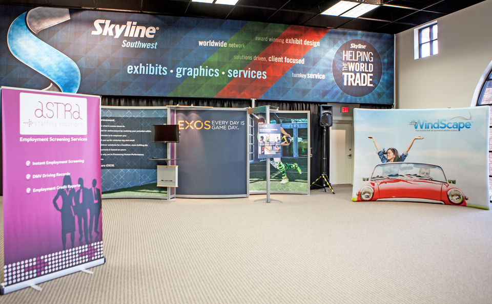 Skyline Southwest's Show Room in Phoenix, Arizona is Filled With Quality Skyline Products to Inspire Event Marketers