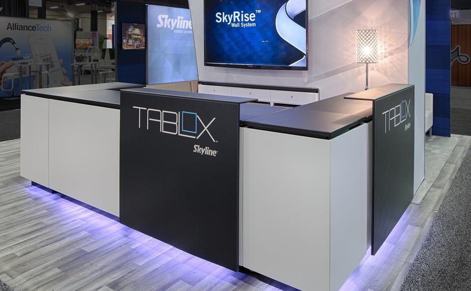 trade show events exhibits tables tablox