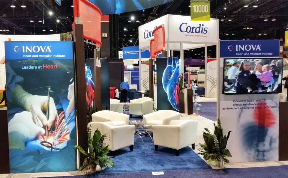Trade Show Display Design with Seating by Skyline Metro DC for the Inova Heart and Vascular Institute