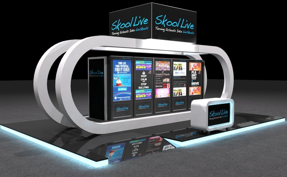 Skool Live trade show exhibit by Skyline San Diego