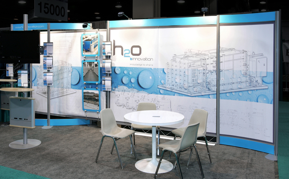 H20 trade show booth design by Skyline San Diego