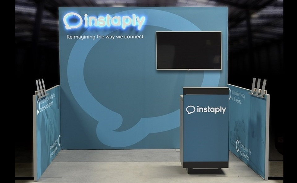 Instaply inline trade show display by Skyline San Diego