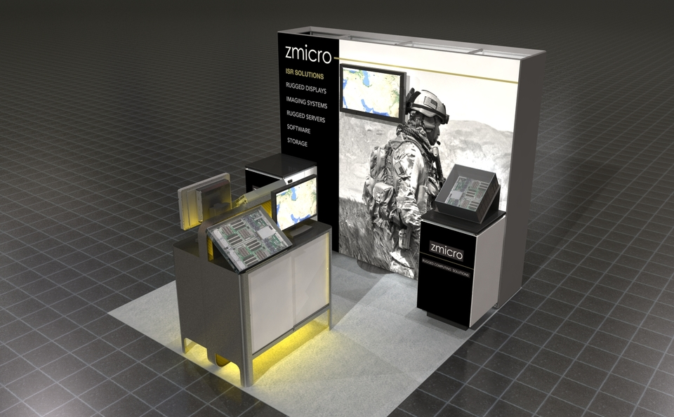ZMicro ISR Solutions - trade show display design by Skyline San Diego