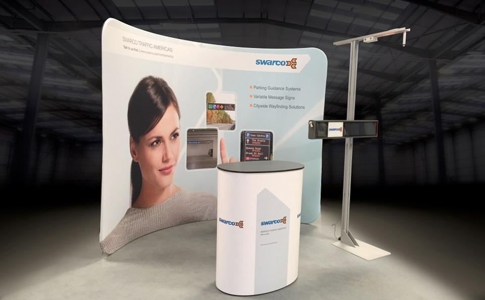 Swarco portable trade show display by Skyline San Diego