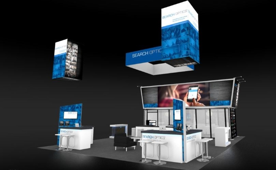 Search Optics 30 x 40 foot trade show exhibit NADA 2016 by Skyline San Diego