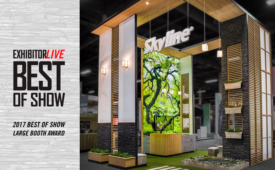 EXHIBITORLIVE 2017 Best of Show: Large Booth Award Recipient