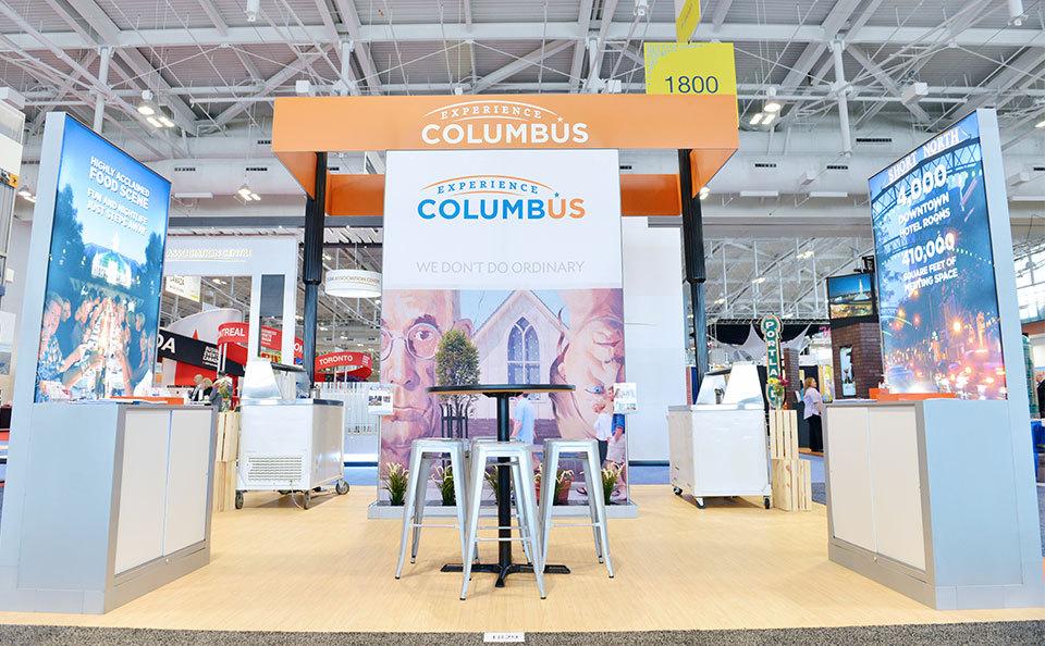 Experience Columbus Custom Trade Show Exhibit