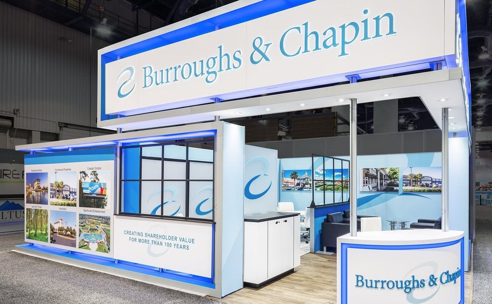 Burroughs&Chapin, 20x40 Island exhibits, 30x30 island exhibits, 40x40 island exhibits