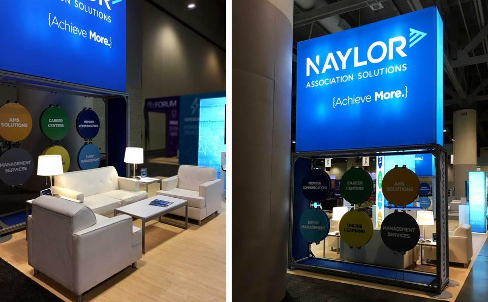 Naylor Association Solutions Trade Show Booth Lounge Area by Skyline