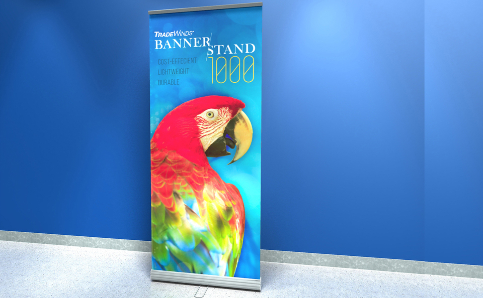 tradewinds tradeshow bannerstand roll-up 1000 skyline