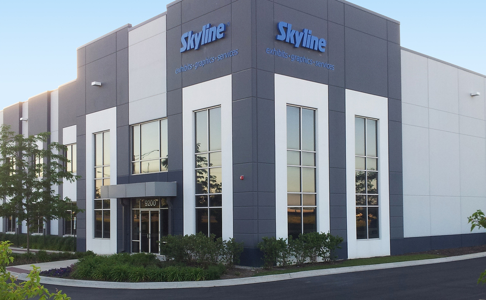 skyline exhibits service center Chicago USA for displays rental and installation for Vancouver BC trade show exhibitors