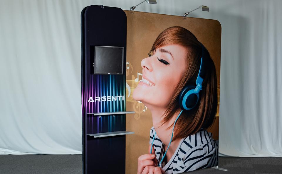 invita tradewinds skyline exhibits shelving accessories monitor LED lights