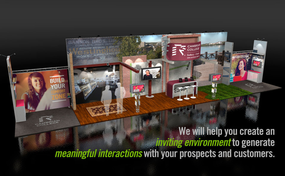 Skyline Greater Toronto Area's Custom Inline Trade Show Display Concept for Cambrian College