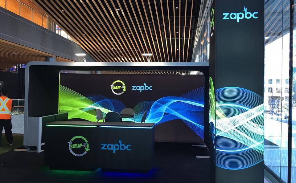 zapBC backlit modular trade show exhibit Skyline BC Vancouver