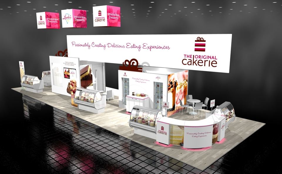 Original Cakerie 20 x 60 island trade show exhibit Skyline BC Vancouver Canada