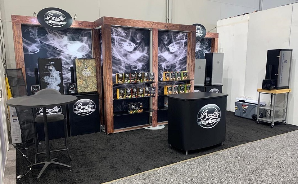 Bradley Smoker modular inline trade show booth Vancouver BC