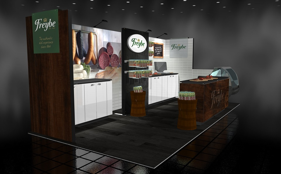 Freybe exhibit design 20 foot trade show booth Langley BC Canada