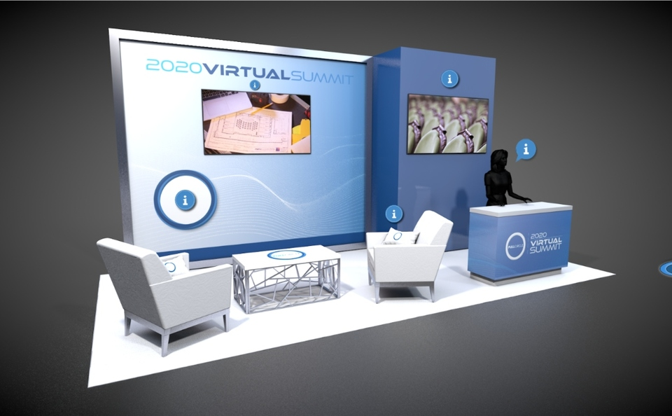 Virtual Trade Show Island exhibit example