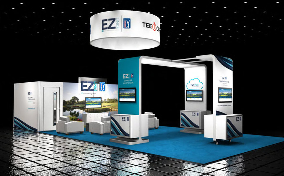 virtual event example - inline booth