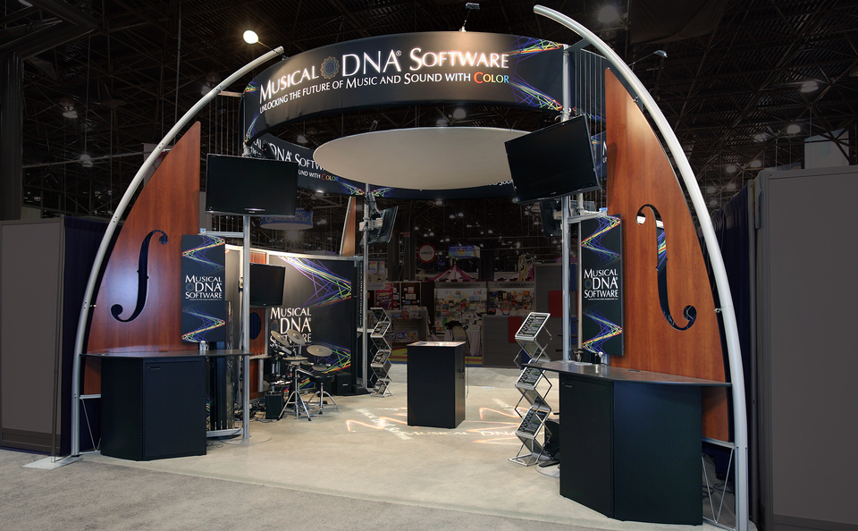 trade show events design tube system