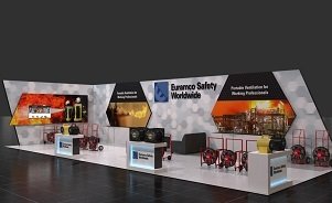 Euramco custom modular trade show booth design by Skyline San Diego