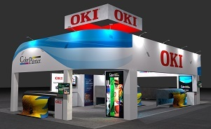 OKI trade show exhibit design by Skyline San Diego