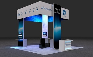 Ntrepid island trade show exhibit design by Skyline San Diego