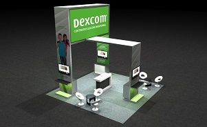 Dexcom island trade show exhibit by Skyline San Diego