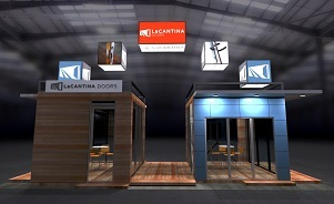 LaCantina Doors island trade show exhibit design by Skyline San Diego