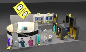 WonderWink custom modular island trade show booth design by Skyline San Diego