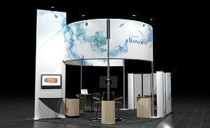 Reva 20 x 30 island exhibit design by Skyline San Diego