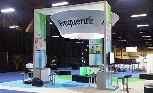 Frequentz trade show booth by Skyline San Diego