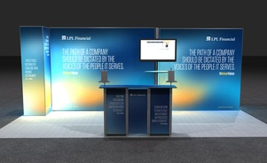 LPL Financial 20 foot trade show exhibit by Skyline San Diego