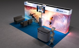 WaveLoch 20 foot inline trade show display by Skyline San Diego