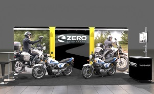 Zero Motorcycles 20 foot backwall trade show display by Skyline San Diego
