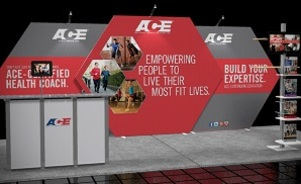 Ace 20 foot inline trade show display design by Skyline San Diego
