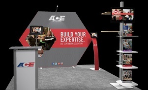 Ace 10 foot trade show exhibit design by Skyline San Diego