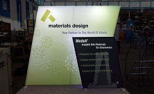 Materials Design 10 foot trade show booth by Skyline San Diego