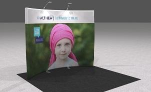 Althea portable trade show display design by Skyline San Diego