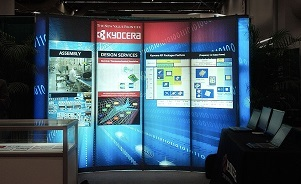 Kyocera backlit portable trade show display by Skyline San Diego