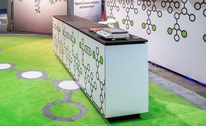 Tablox trade show display counter graphics