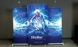 Banner stand 10 foot trade show display Skyline BC Vancouver