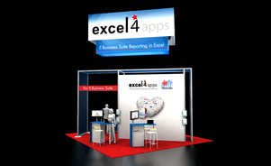 Excel4apps Trade Show Booth